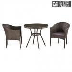Комплект мебели из иск. ротанга T283ANT-W51-/Y350-W51 Brown (2+1)