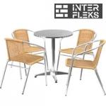 Комплект мебели LFT-3099A/T3127-D60 Cappuccino (4+1)