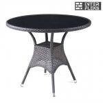 Стол из иск. ротанга T197ANS-W51-D90 Brown