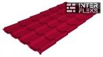 Металлочерепица Grand Line Kamea RAL 3003 рубиново-красный