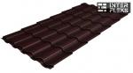 Металлочерепица Grand Line Kredo RAL 8017 шоколад