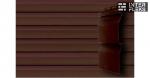 Виниловый сайдинг GL Корабельная доска Слим 3,0 D4 темный дуб (AСA)