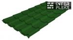 Металлочерепица Grand Line Kamea RAL 6002 лиственно-зеленый