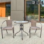Комплект мебели Асоль-1A TLH-037A/087A-D60 Cappuccino (2+1)