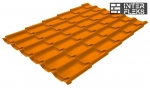 Металлочерепица Grand Line Modern RAL 2004 оранжевый