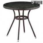Стол из иск. ротанга T283ANT-W51-D80 Brown