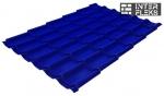 Металлочерепица Grand Line Modern RAL 5002 ультрамариново-синий