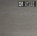 Фасадная доска (планкен) Экодек серый дым 10х220