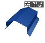 Парапетная крышка угольная 100мм 0,5 Satin с пленкой RAL 5005 сигнальный синий
