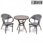 Комплект мебели A1007/D2003S-AD64 Dark brown (2+1)