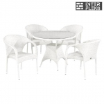 Комплект мебели из иск. ротанга T220CW/Y290W-W2 White (4+1)