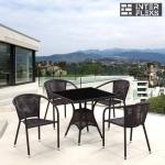 Комплект мебели из иск. ротанга T197BNS/Y137B-W51 Brown (4+1)