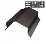 Парапетная крышка угольная 250мм 0,5 Satin с пленкой RR 32 темно-коричневый