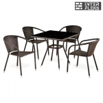 Комплект мебели из иск. ротанга T283BNS/Y137C-W51 Brown (4+1)
