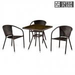 Комплект мебели из иск. ротанга T283BNT/Y137C-W51 Brown (3+1)
