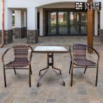 Комплект мебели Асоль-2B TLH-037B/073B-60х60 Brown (2+1)